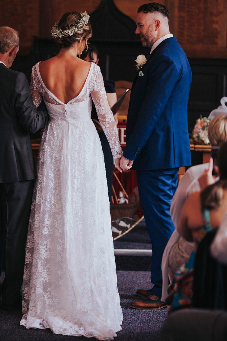 Vintage Dress Lace Sleeves Bride Bridal 1950s Creative Festival Wedding http://benjaminstuart.co.uk/