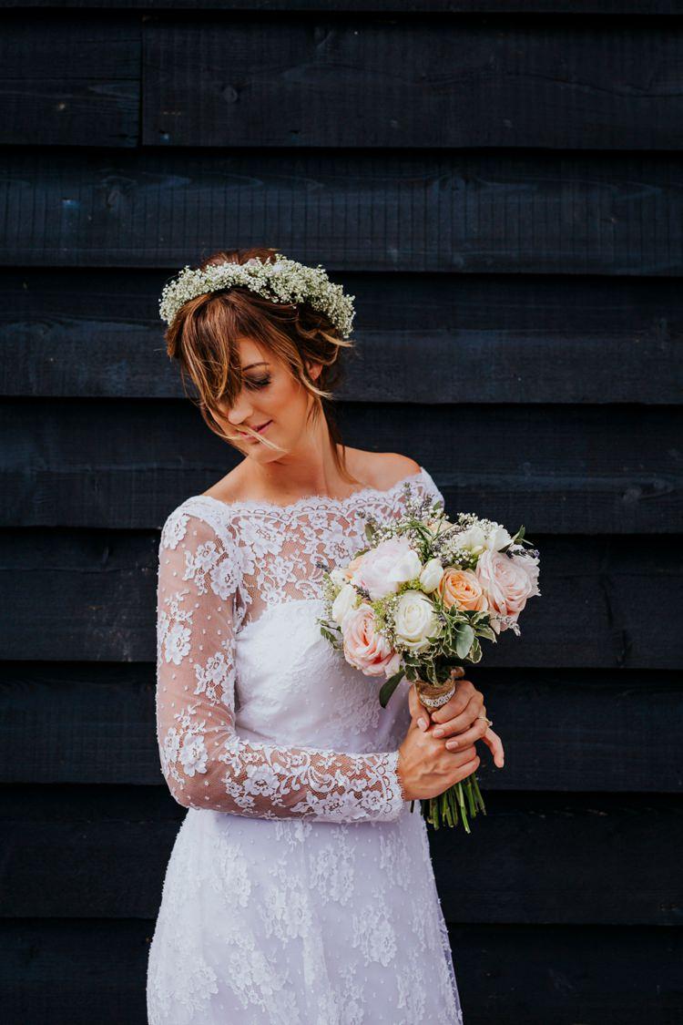 Gypsophila Gyp Baby Breath Flower Crown Bride Bridal Creative Festival Wedding http://benjaminstuart.co.uk/