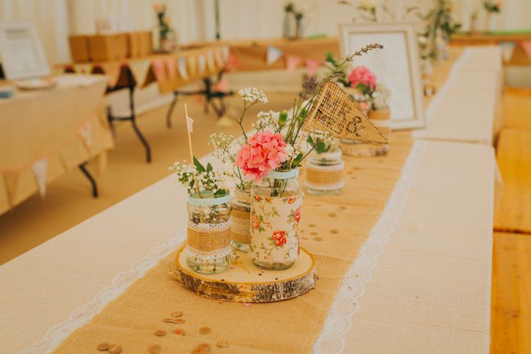 Boho Wooden 39 Love Wedding Table Confetti Petals Sparklers