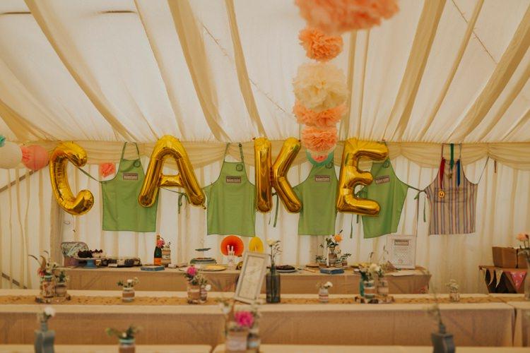 Cake Bake Off Balloons Gold Creative Festival Wedding http://benjaminstuart.co.uk/