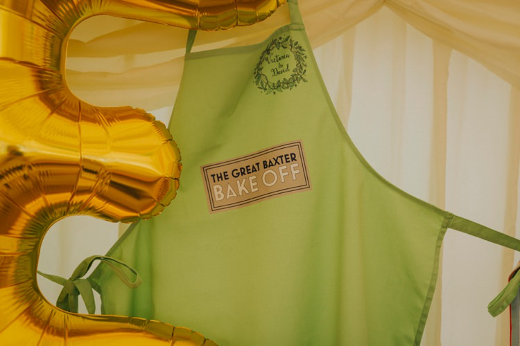 Cake Bake Off Apron Prize Creative Festival Wedding http://benjaminstuart.co.uk/