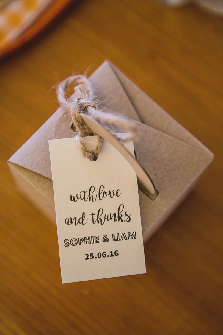 Favour Boxes Tags Thank You Outdoorsy Colourful Tipi Wedding http://www.tierneyphotography.co.uk/