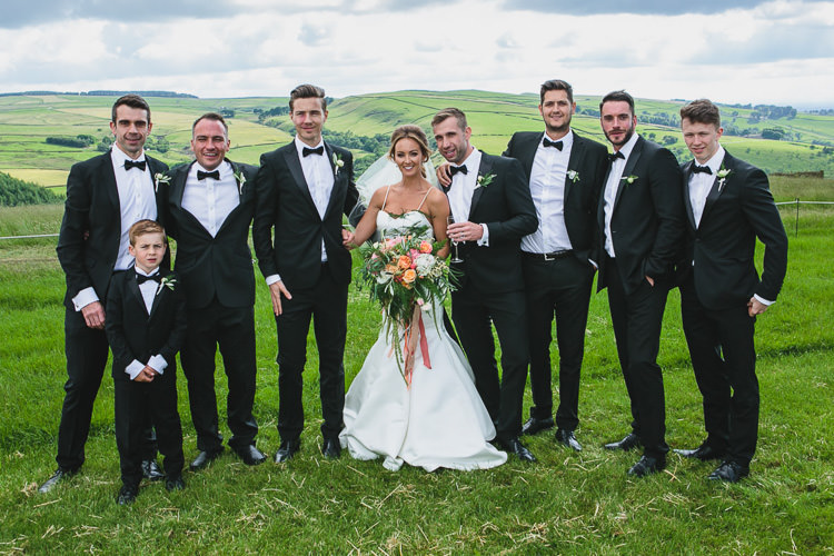 Tuxedo Black Tie Groomsmen Outdoorsy Colourful Tipi Wedding http://www.tierneyphotography.co.uk/