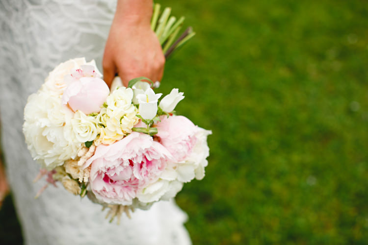 Bouquet Peony Bride Bridal Flowers Pretty Peonies & Bikes Fun Country House Wedding http://hbaphotography.com/
