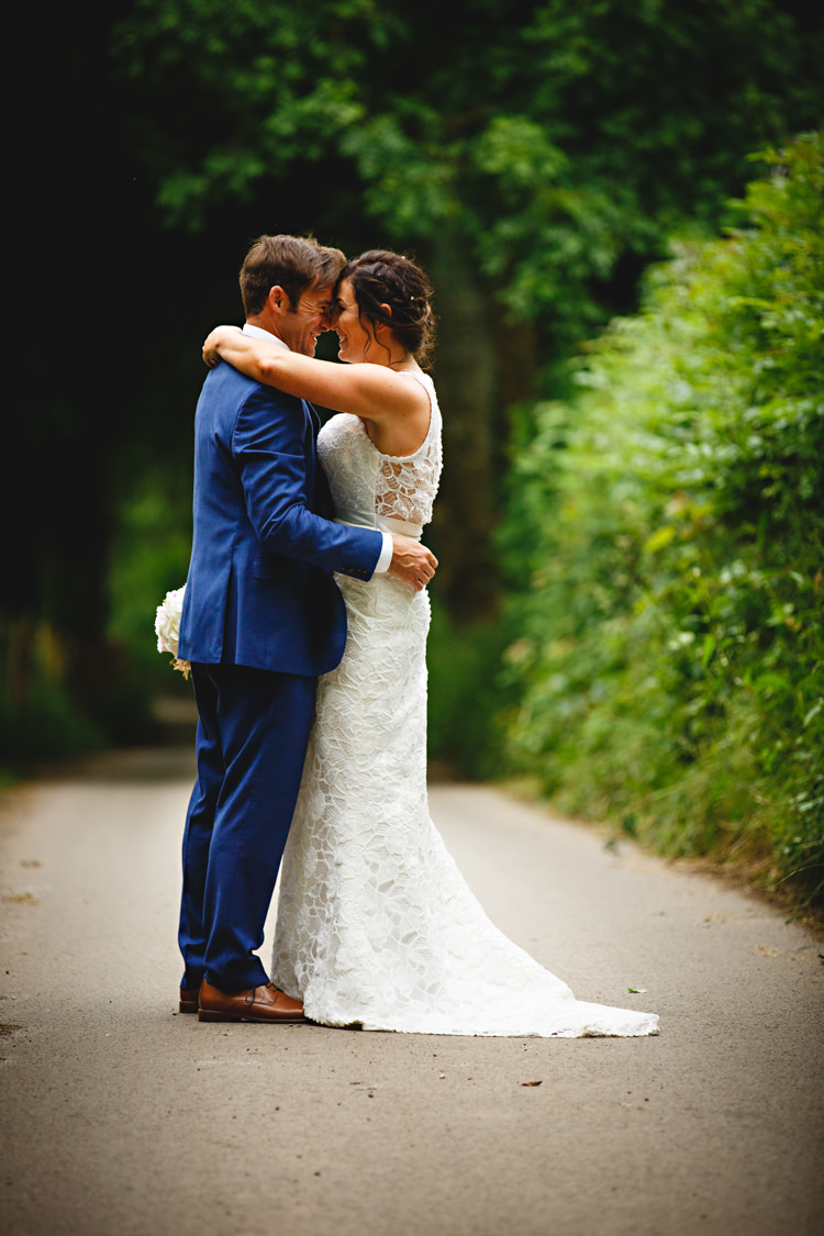 Charlotte Balbier Dress Bride Bridal Gown Lace Marnie Peonies & Bikes Fun Country House Wedding http://hbaphotography.com/
