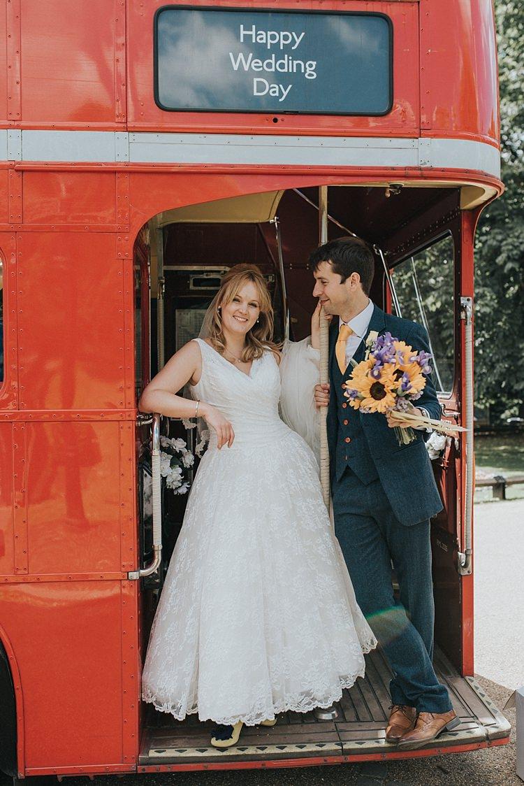 Red London Bus Transport City Farm Yellow Blue Wedding http://www.baiandelle.com/
