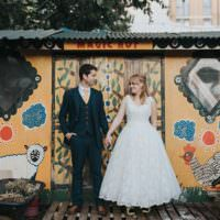 City Farm Yellow Blue Wedding http://www.baiandelle.com/