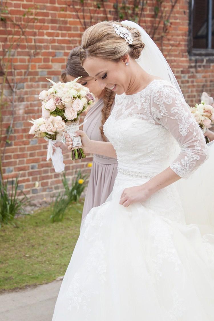 Enzoani Dabra Lace Sleeves Belt Bride Bridal Dress Gown Cosy Winter Barn Wedding http://kerryannduffy.com/
