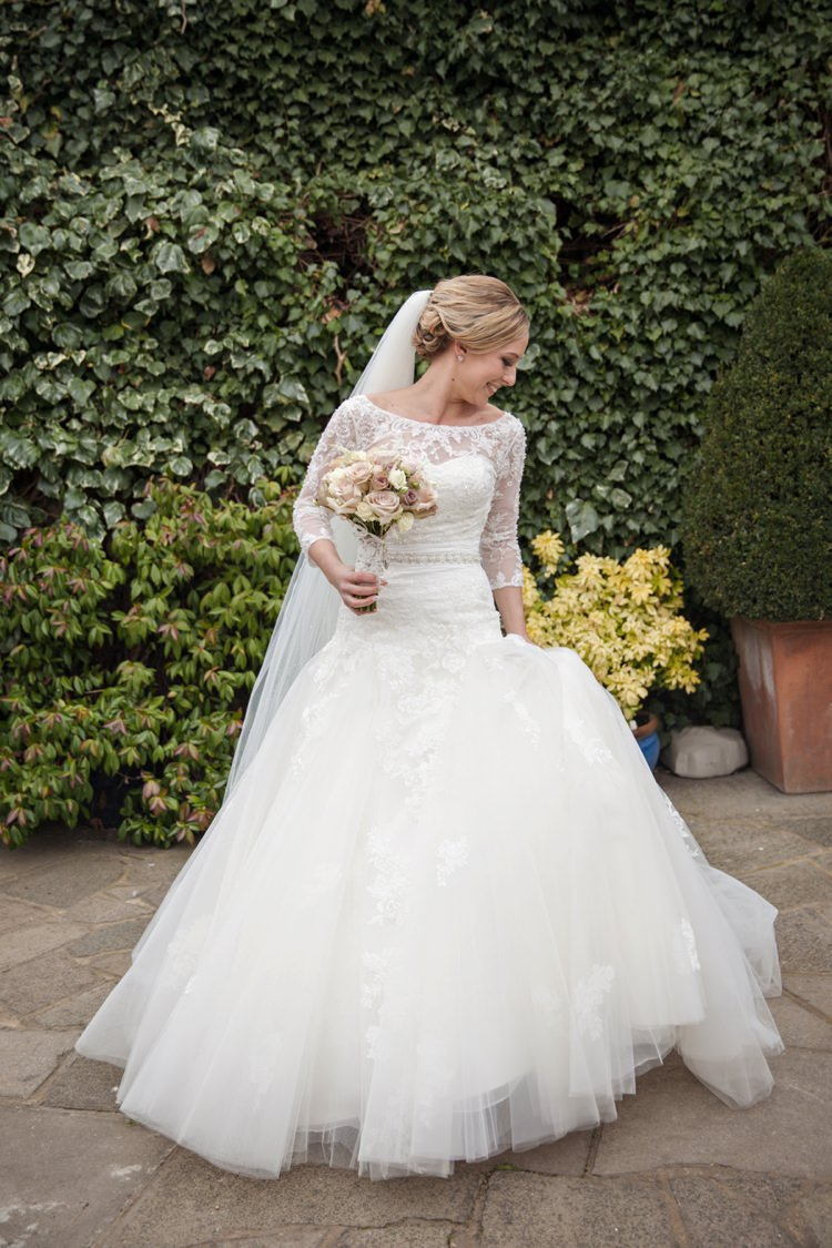 Enzoani Dabra Dress Gown Bride Bridal Cosy Winter Barn Wedding http://kerryannduffy.com/