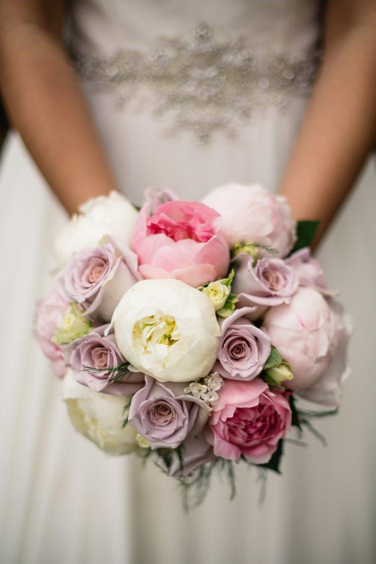 Pink Lilac Cream Peony Rose Bouquet Bride Bridal Flowers Delightful Secret Garden Wedding http://www.pauljosephphotography.co.uk/