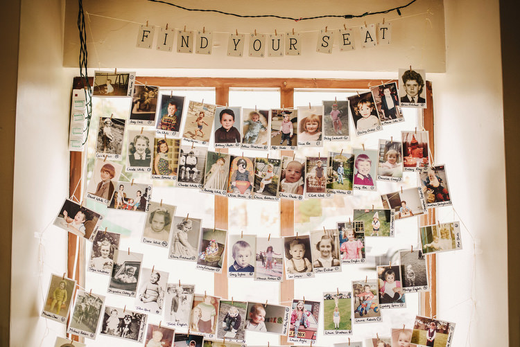 Baby Photo Seating Table Plan Chart Creative Crafty Village Hall Wedding http://andygaines.com/