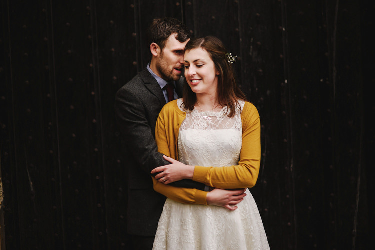 Bride Cardigan Mustard Yellow Creative Crafty Village Hall Wedding http://andygaines.com/