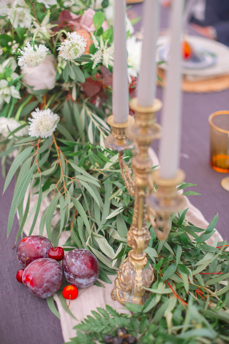 Foliage Greenery Swag Table Decor Centrepiece Candle Stick Beautiful Classic Luxe Wedding Ideas https://divinedayphotography.com/