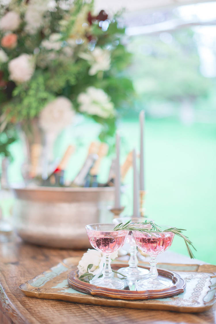 Pink Cocktails Drinks Beautiful Classic Luxe Wedding Ideas https://divinedayphotography.com/