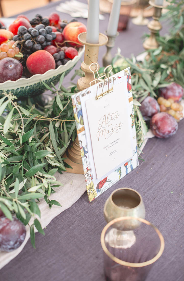 Menu Stationery Beautiful Classic Luxe Wedding Ideas https://divinedayphotography.com/