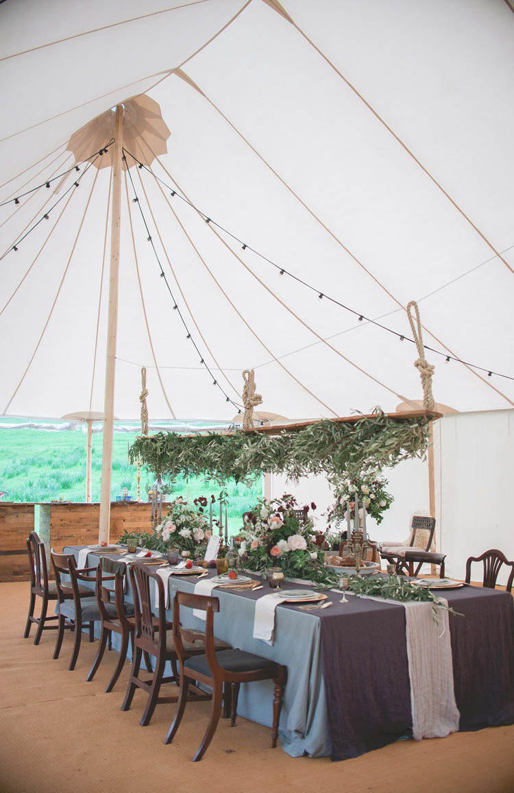 Pole Tent Marquee Lights Foliage Sway Greenery Beautiful Classic Luxe Wedding Ideas https://divinedayphotography.com/