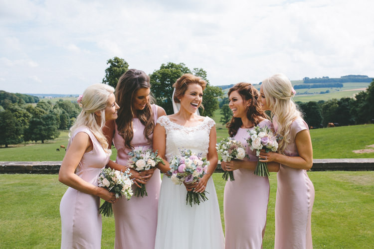 Long Dresses Ghost Bridesmaids Classic Pink English Country Garden Wedding http://www.elliegracephotography.co.uk/