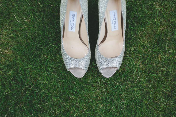 Silver Jimmy Choo Shoes Heels Bride Bridal Classic Pink English Country Garden Wedding http://www.elliegracephotography.co.uk/