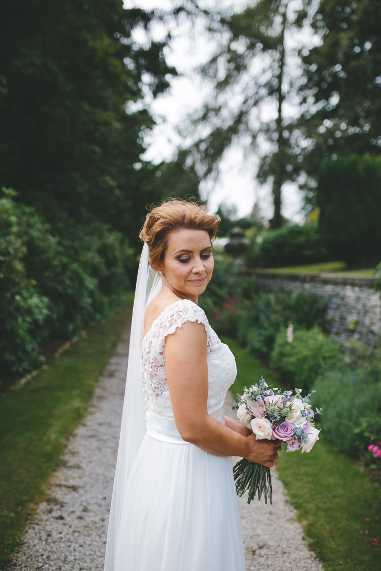 Caroline Castigliano Charm School Lace Dress Gown Bride Bridal Veil Classic Pink English Country Garden Wedding http://www.elliegracephotography.co.uk/
