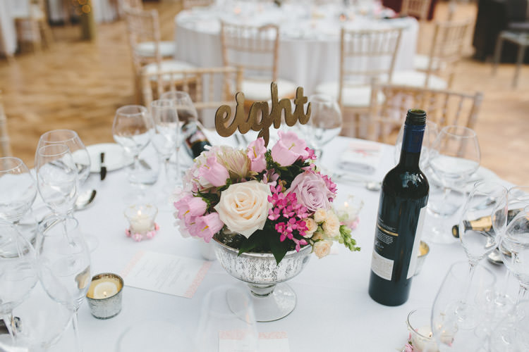 Table Flowers Classic Pink English Country Garden Wedding http://www.elliegracephotography.co.uk/