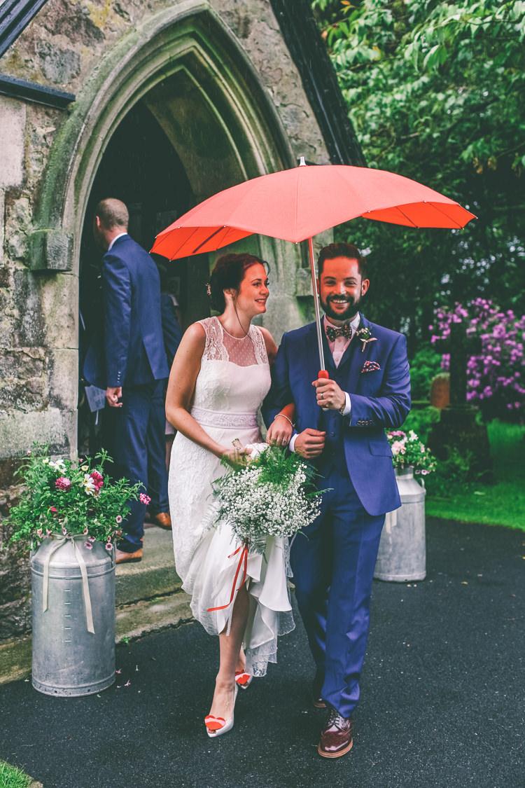 Umbrella Rainy Home Made Glastonbury Festival Wedding http://www.emmaboileau.co.uk/