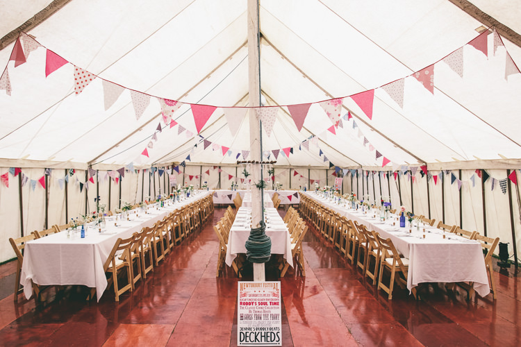 Pole Tent Marquee Bunting Home Made Glastonbury Festival Wedding http://www.emmaboileau.co.uk/