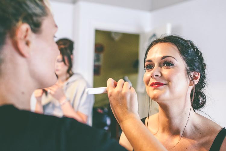 Make Up Bride Bridal Home Made Glastonbury Festival Wedding http://www.emmaboileau.co.uk/
