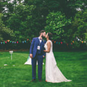 Home Made Glastonbury Festival Inspired Wedding