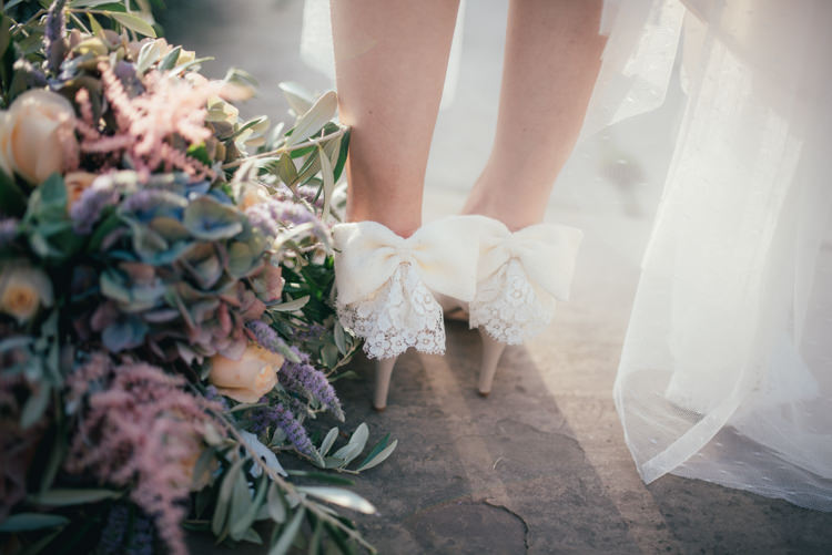 Bow Lace Shoes Heels Bride Bridal Fine Art Boho Luxe Garden Wedding Ideas http://www.lucygphotography.co.uk/