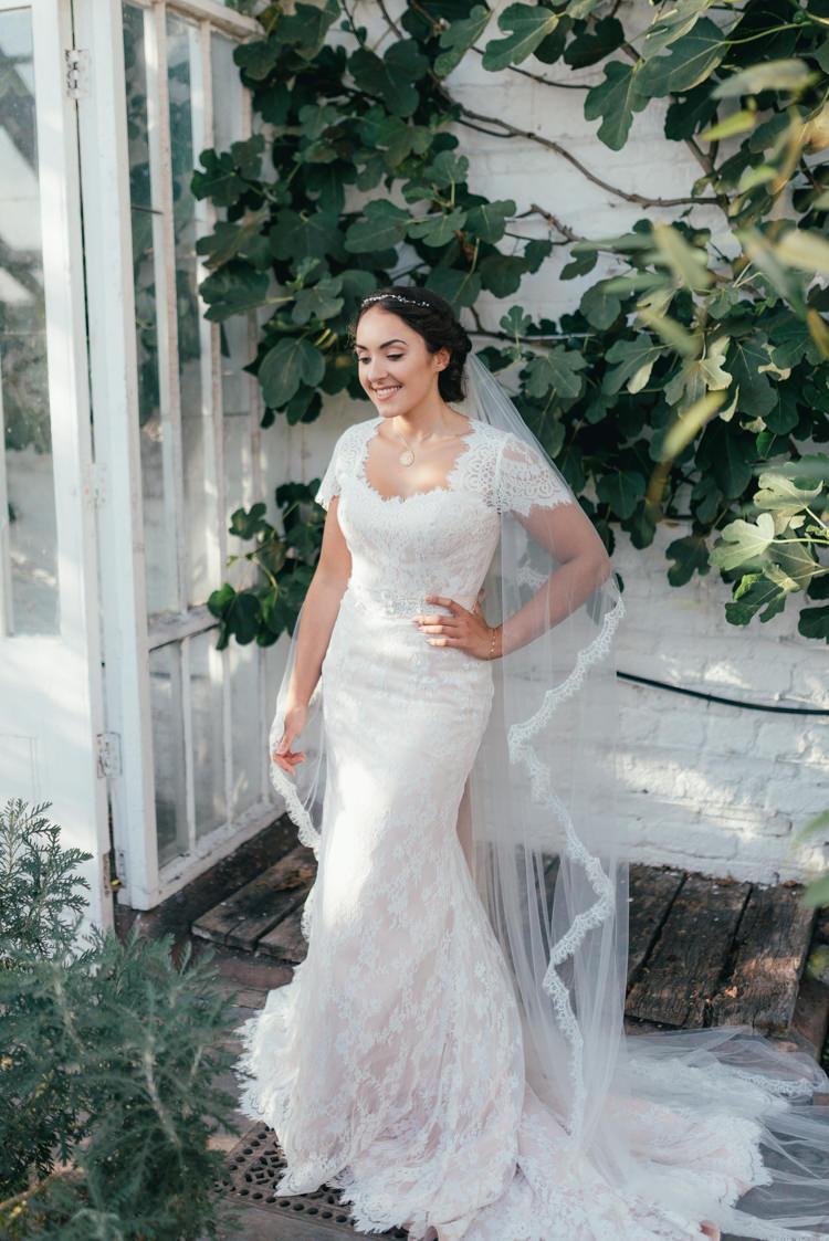 Fishtale Dress Gown Bride Bridal Lace Fine Art Boho Luxe Garden Wedding Ideas http://www.lucygphotography.co.uk/