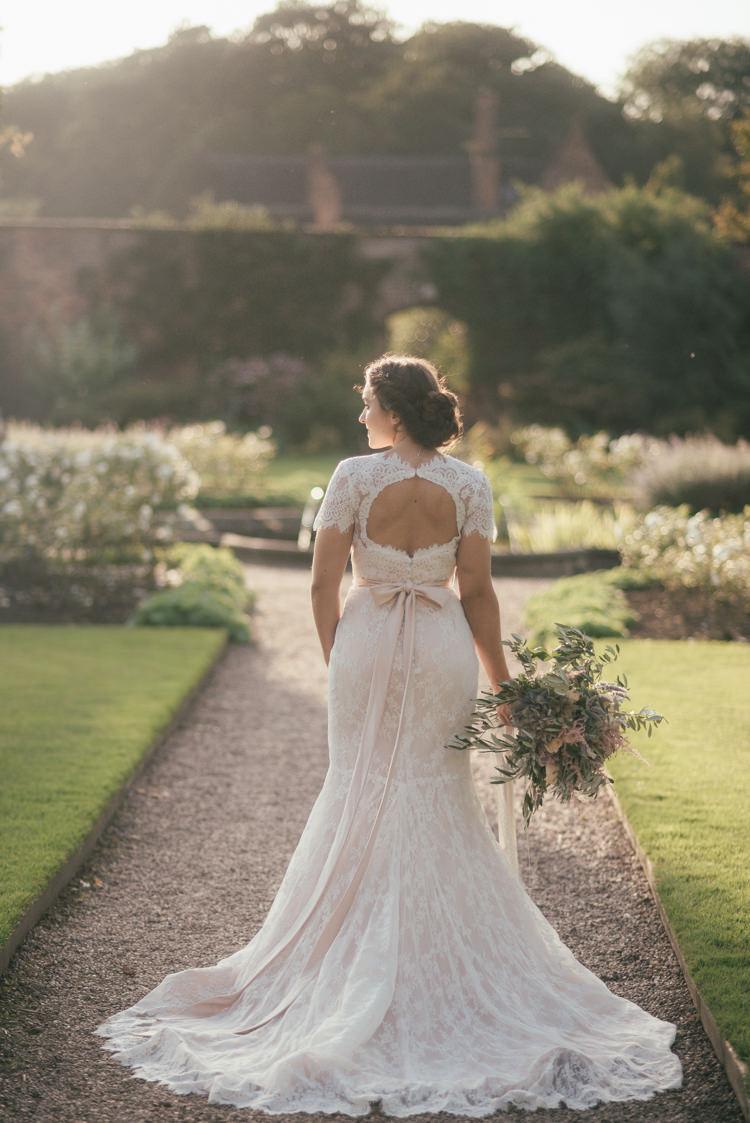 Bow Back Dress Gown Bride Bridal Fine Art Boho Luxe Garden Wedding Ideas http://www.lucygphotography.co.uk/