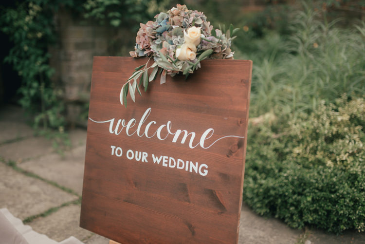 Calligraphy Wooden Sign Flowers Fine Art Boho Luxe Garden Wedding Ideas http://www.lucygphotography.co.uk/