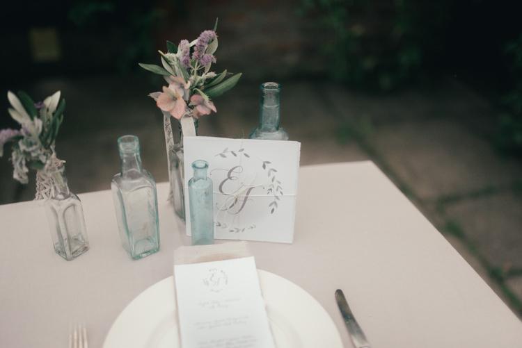 Bottle Flowers Fine Art Boho Luxe Garden Wedding Ideas http://www.lucygphotography.co.uk/