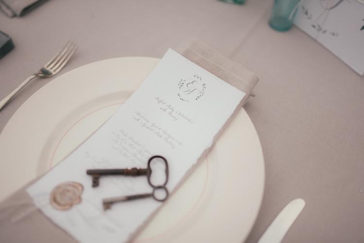 Key Place Setting Fine Art Boho Luxe Garden Wedding Ideas http://www.lucygphotography.co.uk/