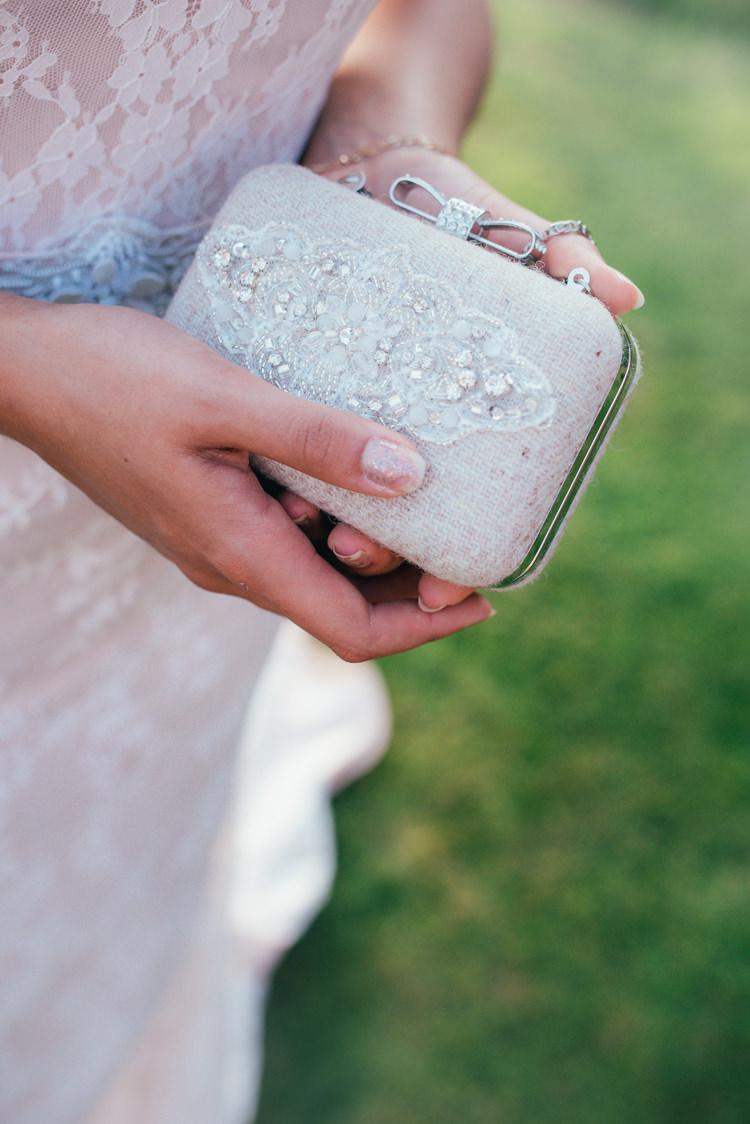 Clutch Bag Bride Bridal Accessory Fine Art Boho Luxe Garden Wedding Ideas http://www.lucygphotography.co.uk/