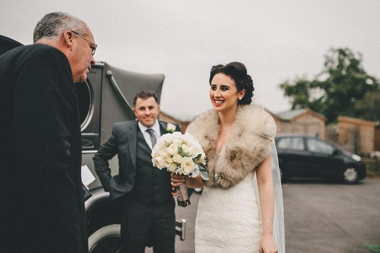 Fur Stole Bride Bridal Accessory Woodland Inspired Autumn Wedding http://www.kerrydiamondphotography.com/