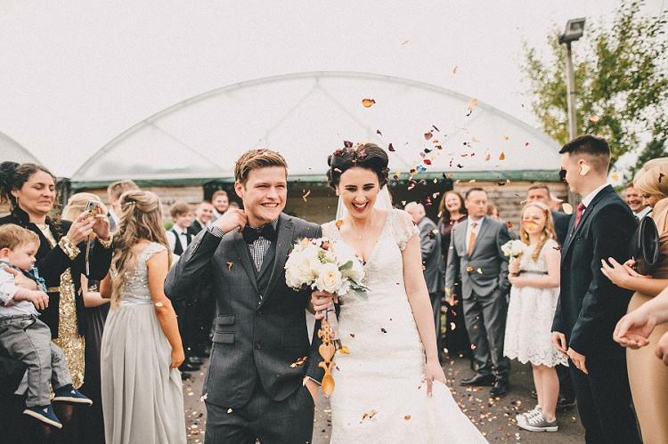 Confettti Throw Woodland Inspired Autumn Wedding http://www.kerrydiamondphotography.com/
