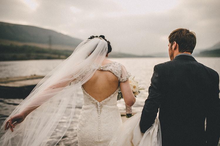 Key Hole Open Back Dress Gown Bride Bridal Woodland Inspired Autumn Wedding http://www.kerrydiamondphotography.com/