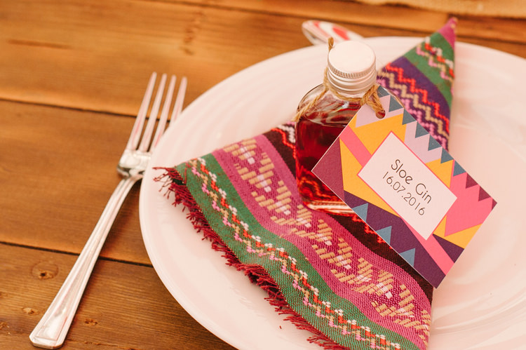 Napkins Sloe Gin Favours Big Top Farm Party Wedding http://www.robinstudios.com/