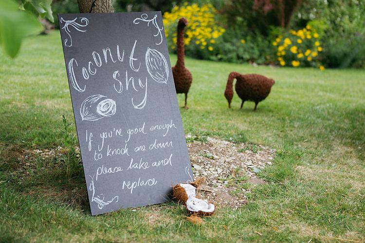 Coconut Shy Fete Fun & Games Tipi Wedding http://jamesandlianne.com/