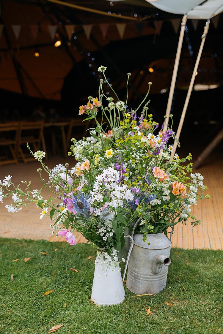 Urn Jug Flowers Large Arrangement Summer Seasonal DIY Fun & Games Tipi Wedding http://jamesandlianne.com/