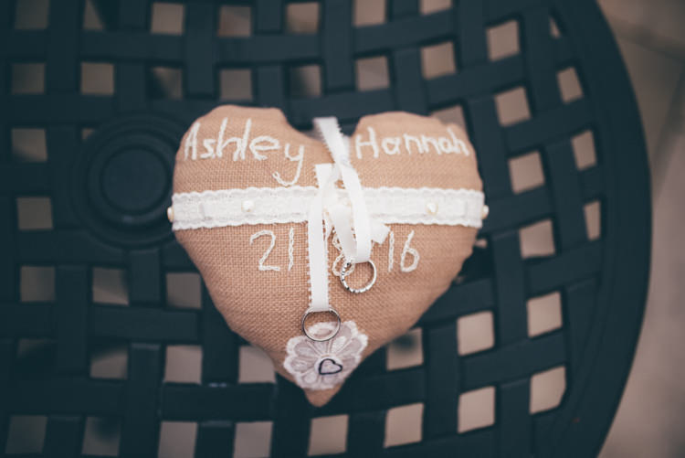 Hessian Ring Cushion Outdoorsy Rustic Sunflowers Wedding http://www.helenjanesmiddy.com/