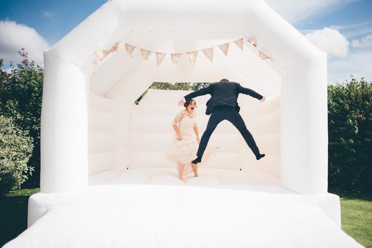 Bouncy Castle Outdoorsy Rustic Sunflowers Wedding http://www.helenjanesmiddy.com/