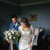 Stylish Indie & Vintage Foliage Filled White Wedding