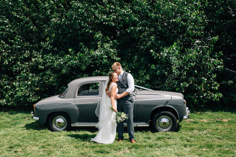 Classic Grey Car Floral Marquee Summer Wedding http://matildadelvesweddingphotography.com/