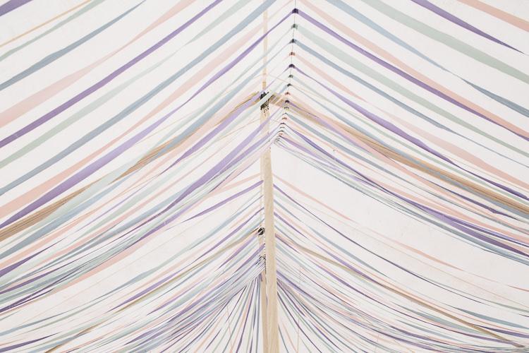Ribbon Decor Ceiling Decor Decoration Floral Marquee Summer Wedding http://matildadelvesweddingphotography.com/