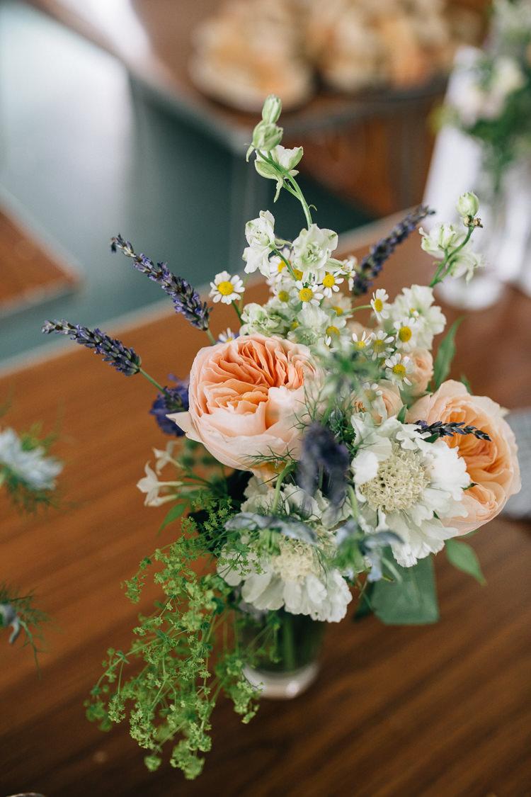 Flowers Rose Peach Daisy Lavender Decor Floral Marquee Summer Wedding http://matildadelvesweddingphotography.com/