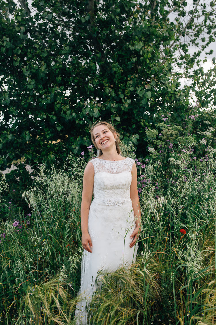 Lace Dress Gown Bride Bridal David's Floral Marquee Summer Wedding http://matildadelvesweddingphotography.com/