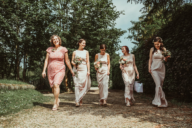 Blush Bridsmaid Dresses Beautiful Stylish Country Marquee Wedding http://jesssoperphotography.com/