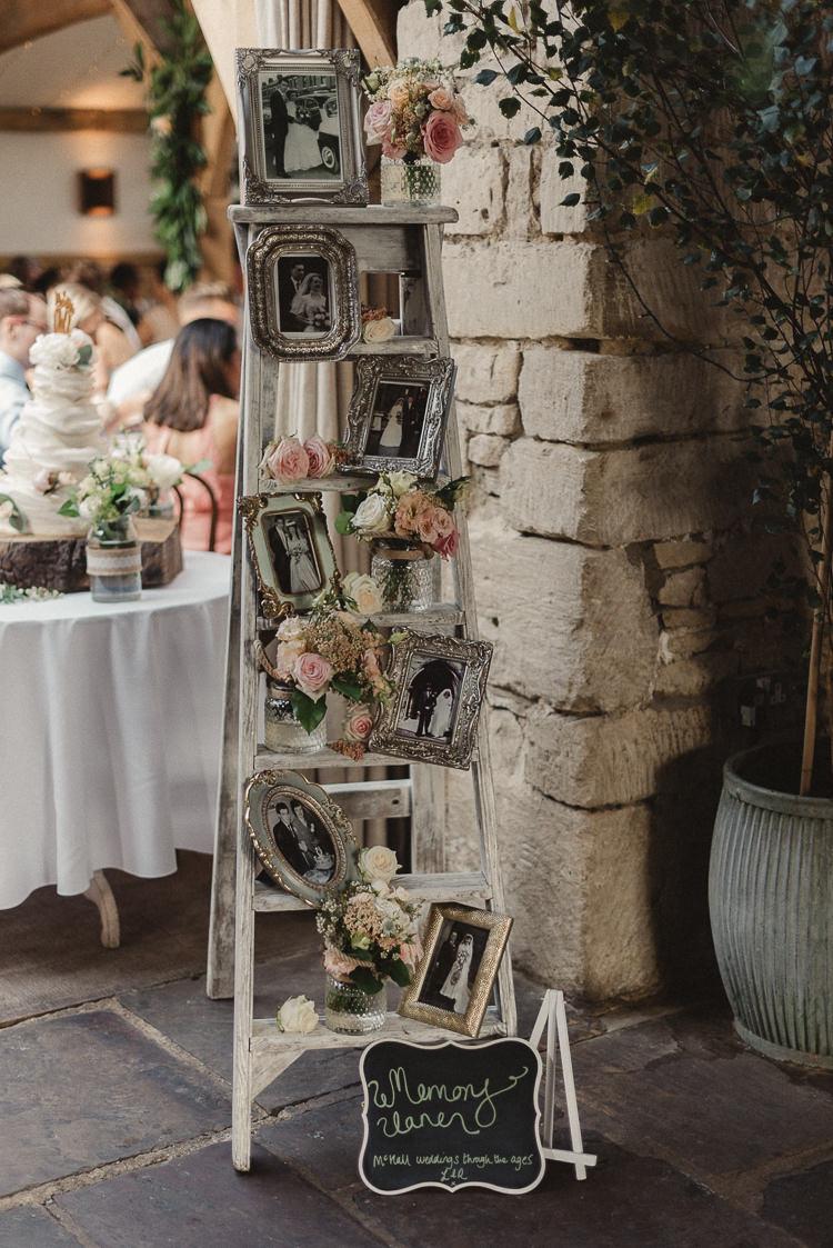 Whimsical floral blush grey wedding whimsical wonderland weddings - Wedding wall decoration ideas ...
